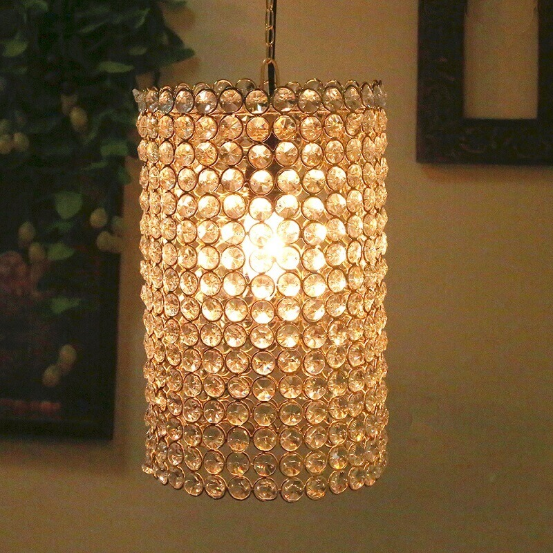 Crystal Hanging barrel Pendant