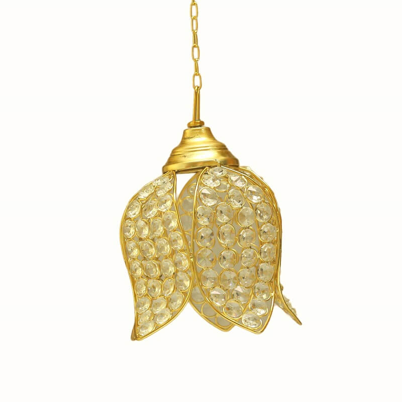 Crystal Hanging Lotus Pendant