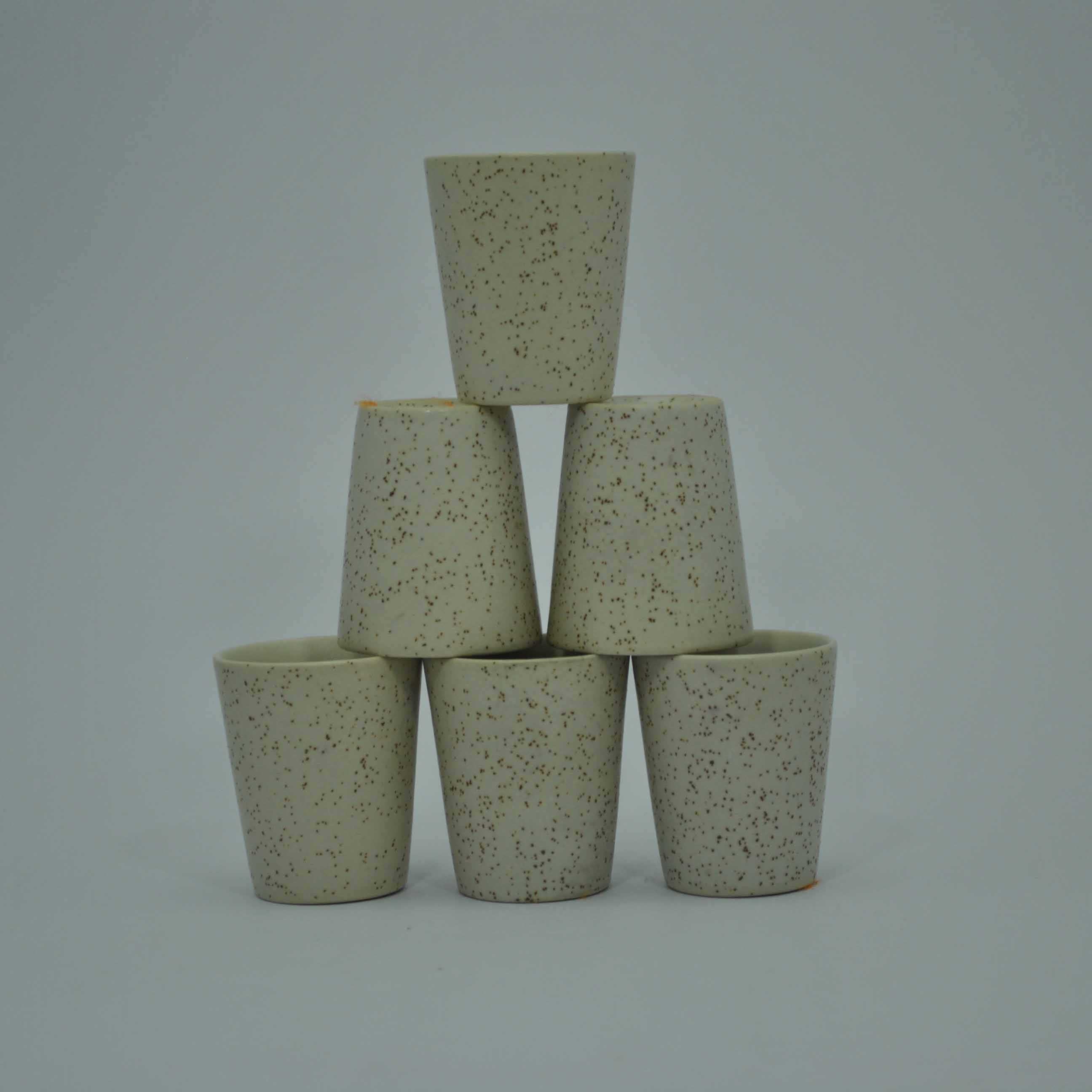 Ceramic Shot Glasses Marble Finish (set of 6)
