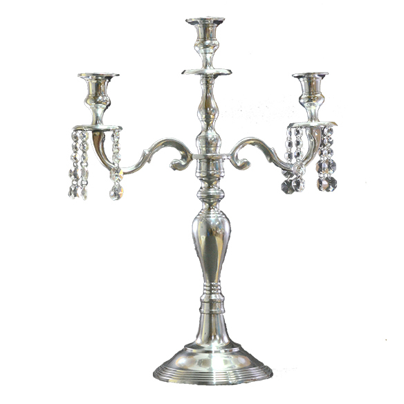 Crystal Candelabrum with 3 Candle Stands