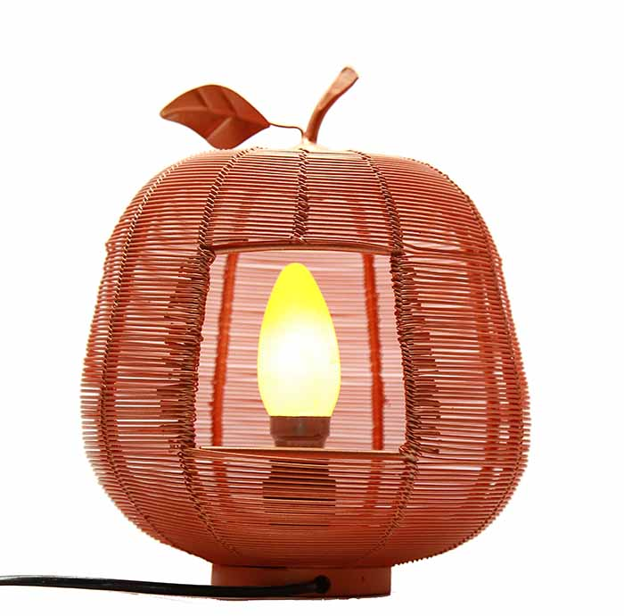 Copper Apple Contemporary Lamp