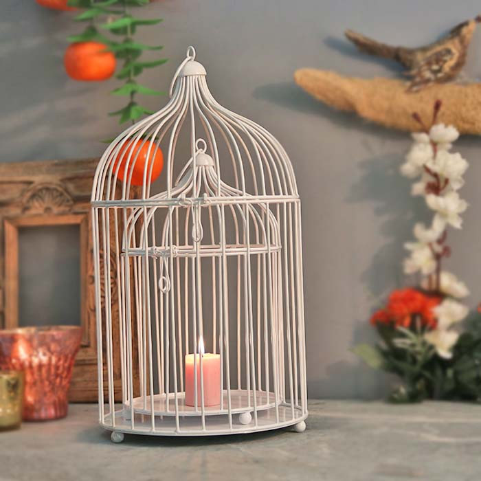Buy White Bird Cage Set Of 2 Online In India Featured