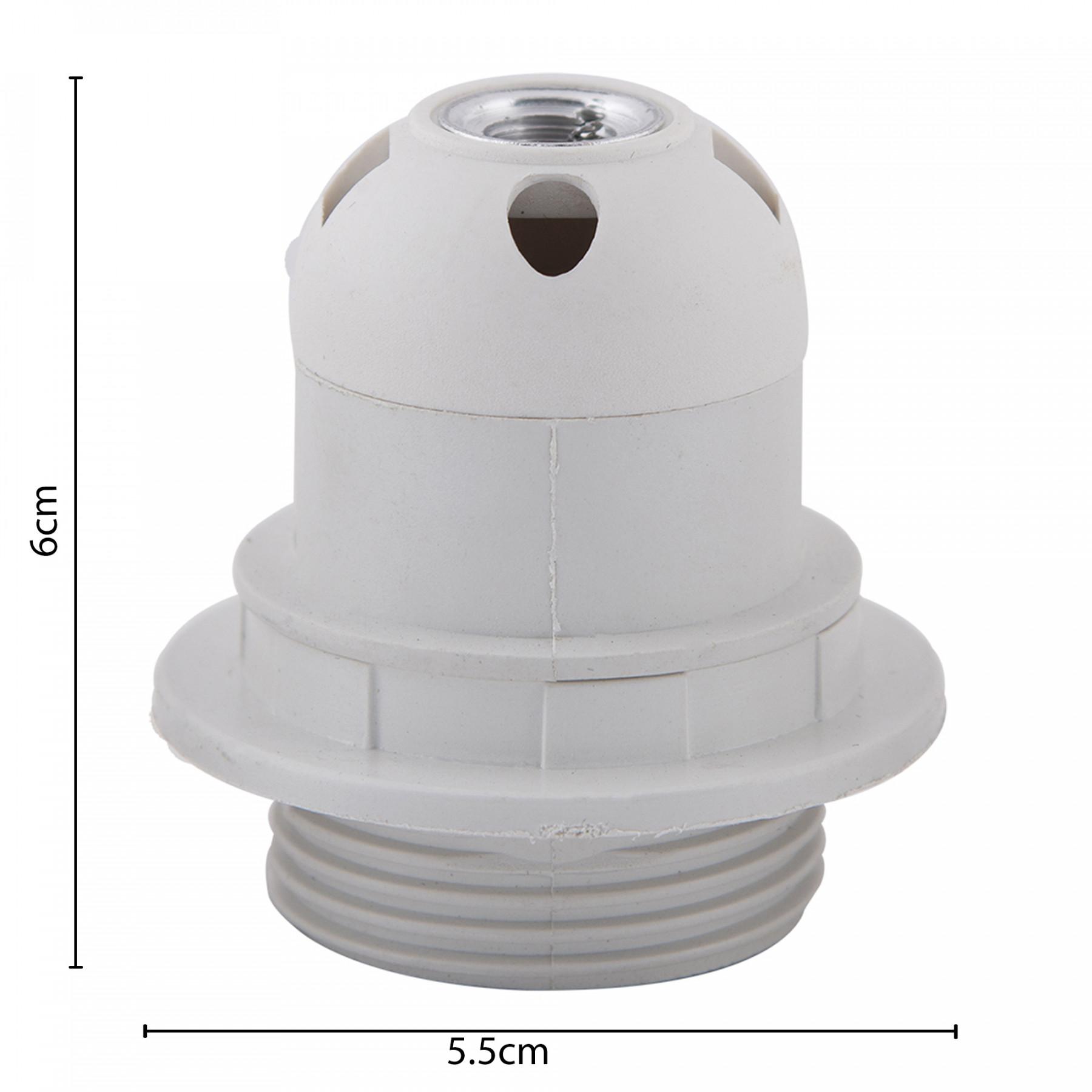 Edison Screw Type Holder E27 White Ring Type For Table