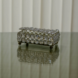 Rectangle Large Crystal Jewelry Box