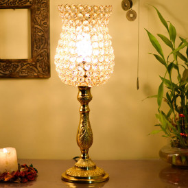 Classic Golden Crystal Lamp