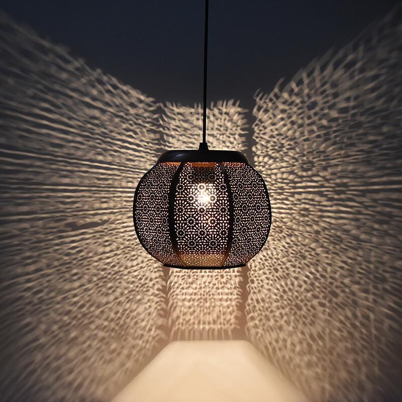 Classic Moroccan Hanging Lamp, Antique Light