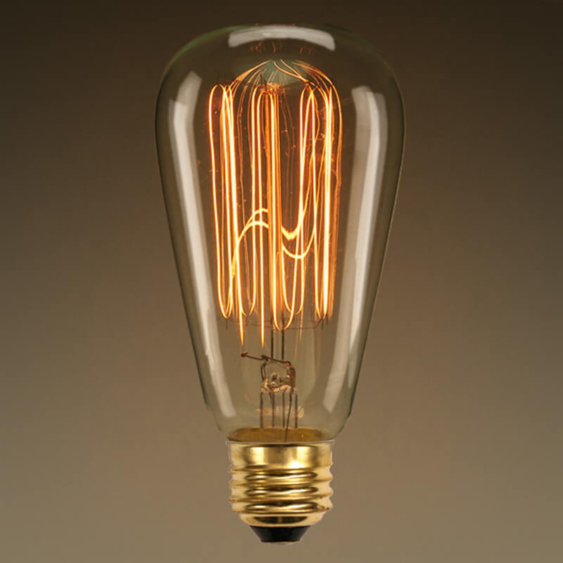 ST64 Edison Filament Bulb Squirrel Cage, antique edison tungsten bulb, 1 Piece