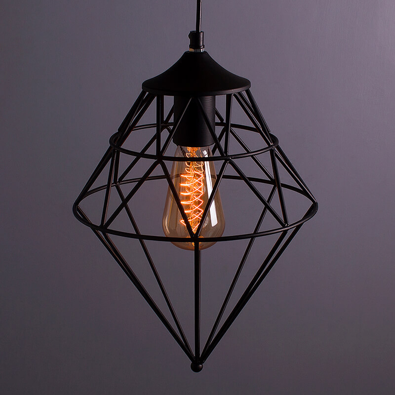 Vintage Edison Filament Hanging Classic Gem , E27 Hanging Light,with LED Filament ST64 Bulb