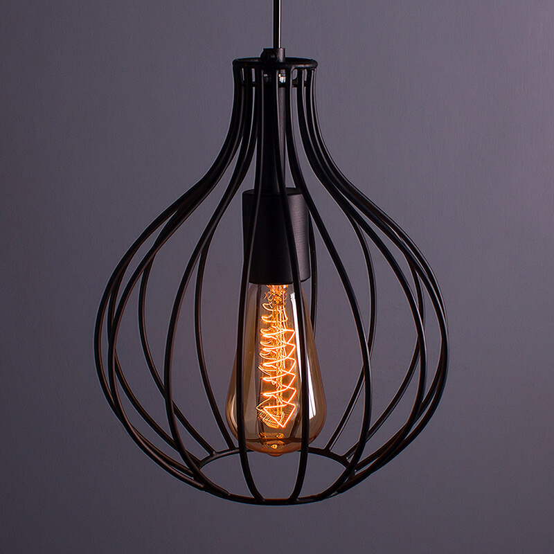 Vintage Edison Filament Hanging Crown , E27 Hanging Light,with LED Filament ST64 Bulb