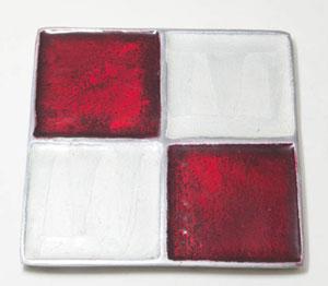 Brown-n-Cream Square Aluminium Coaster (Set of 4 pc)