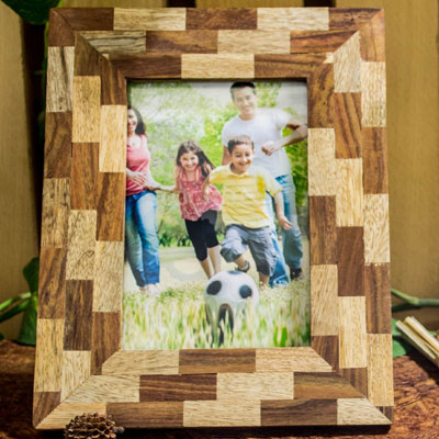 Double Wood Photoframe