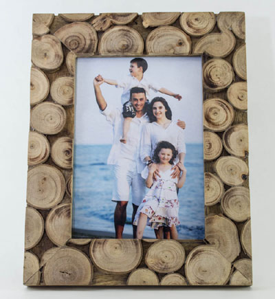Wooden Logs Photoframe