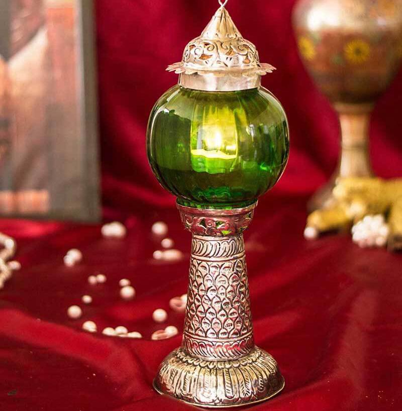 Moroccan Melon Pillar Small Green