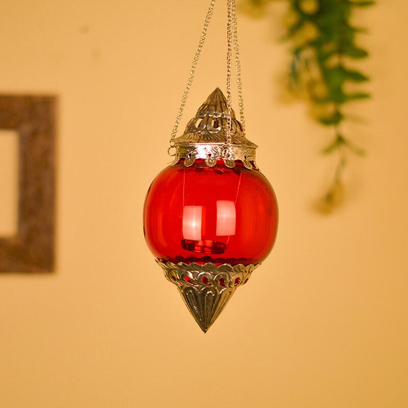 Hanging Brass Scarlet Melon T-Light Holder