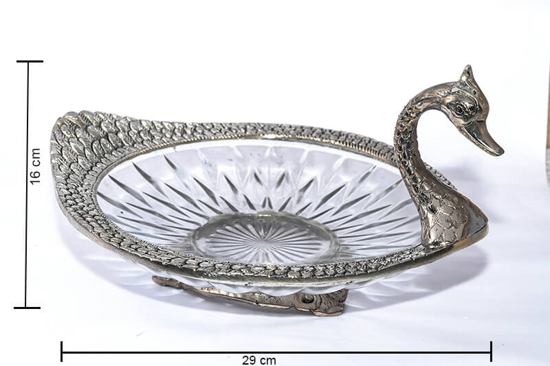 Metal Carved Serving Duck