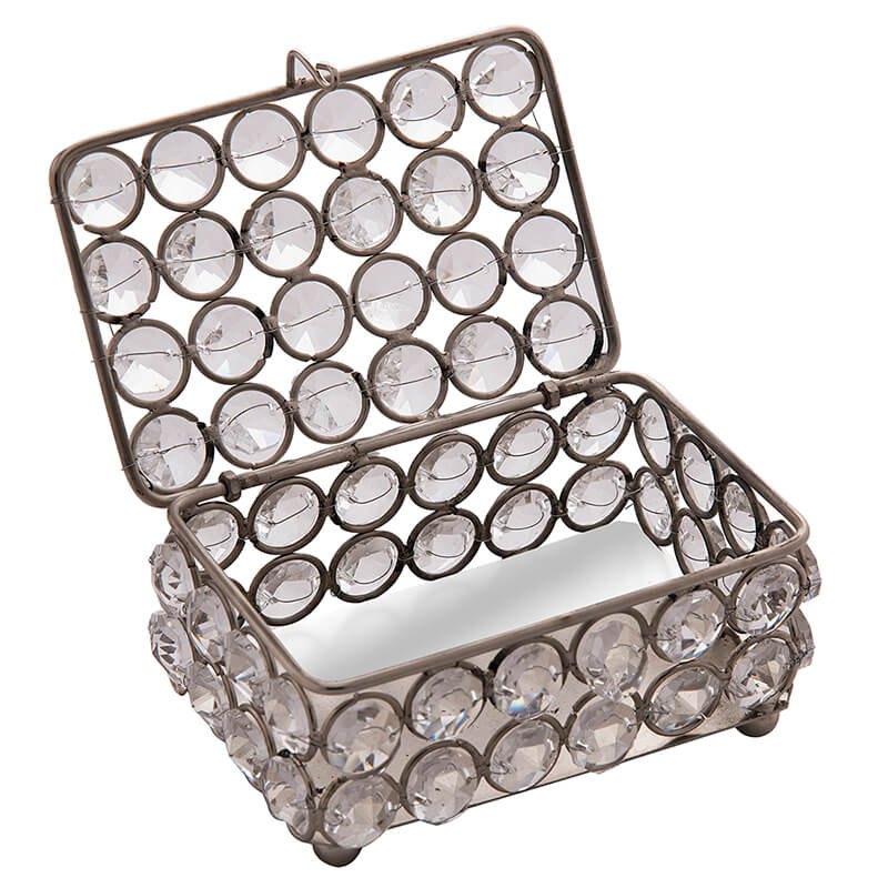 Rectangle Small Crystal Jewellery Box