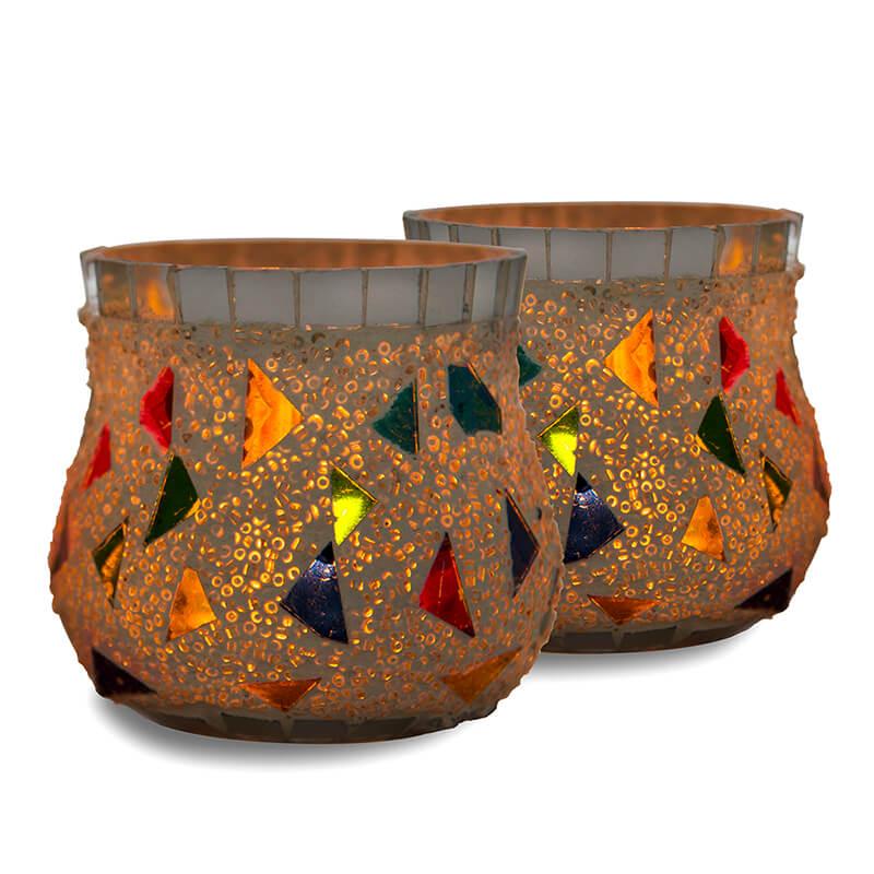 Mosaic Votive (Set of 2 piece)