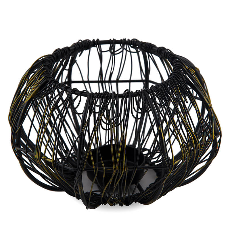 Wire Tangle Large Votive Black