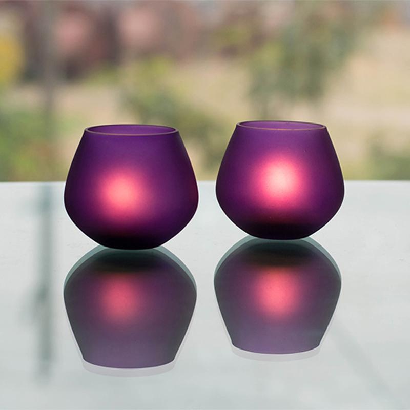 Violet Frost Pot Votive (Set of two pieces) Small