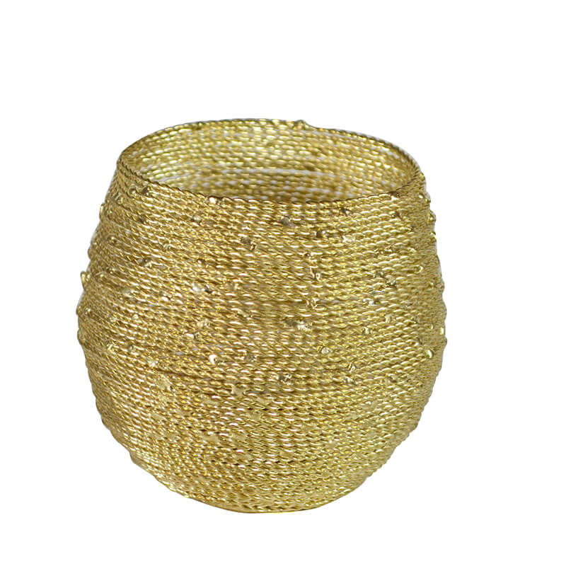Gold Wire-n-Fire Votive (Set of 2)