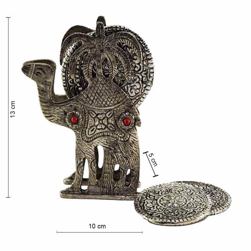 Lone Desert Camel Antique Coaster Set