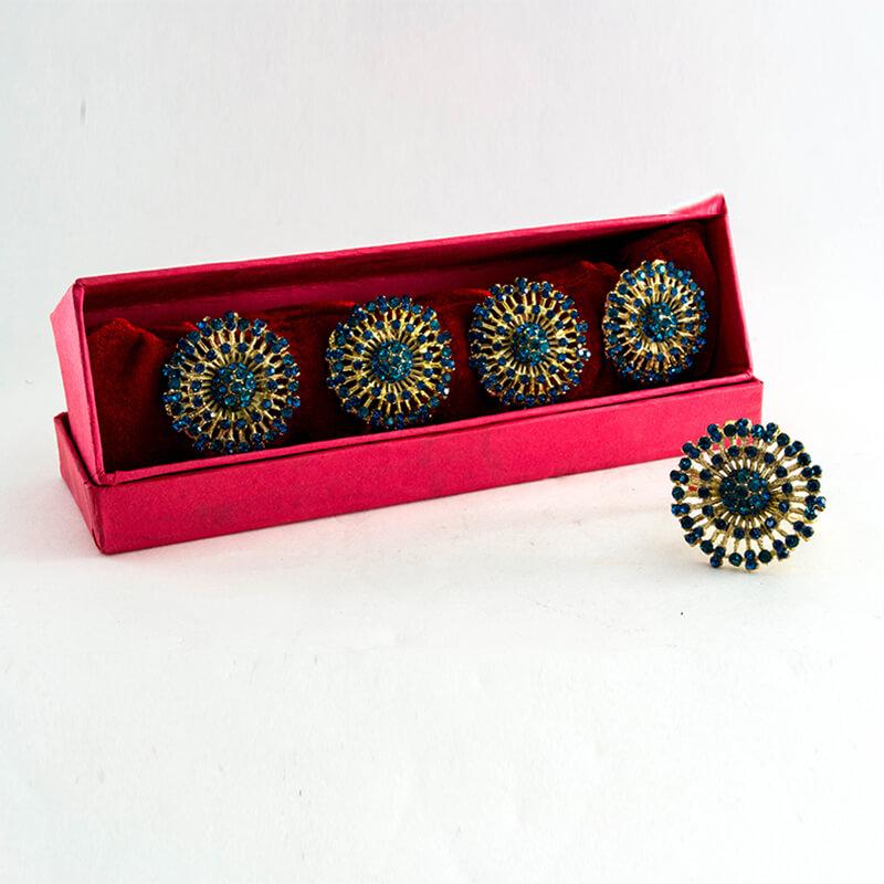 Catalina-n-Gold napkin Ring (Set of 4)