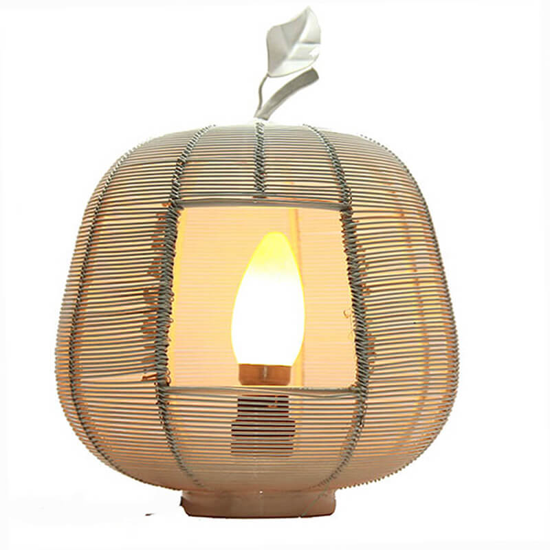 White Apple Contemporary Lamp