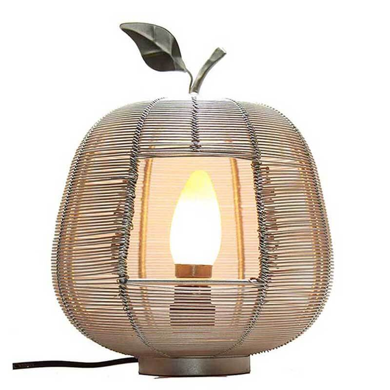 Silver Apple Contemporary Lamp