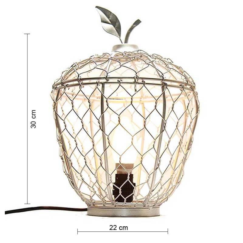Silver Apple Cage Classic Lamp