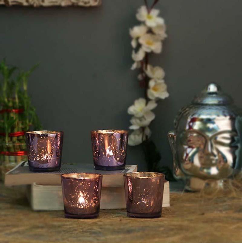 Lilac Mercury T-light holder