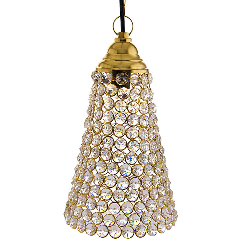 Crystal Hanging Pendant Inverted Cone
