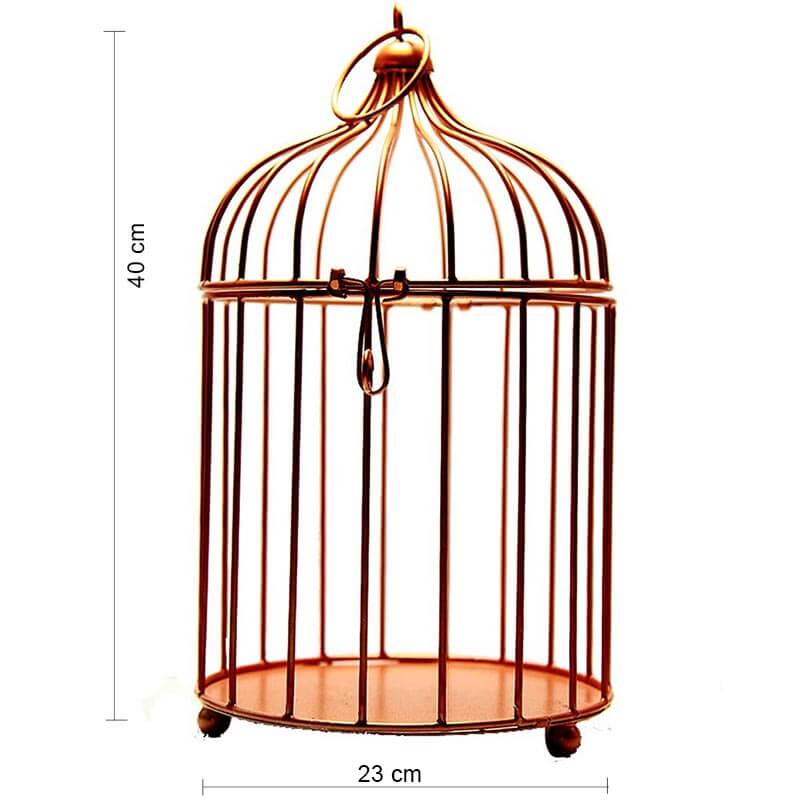 Copper Bird Cage (Set of 2), with Hanging Chain