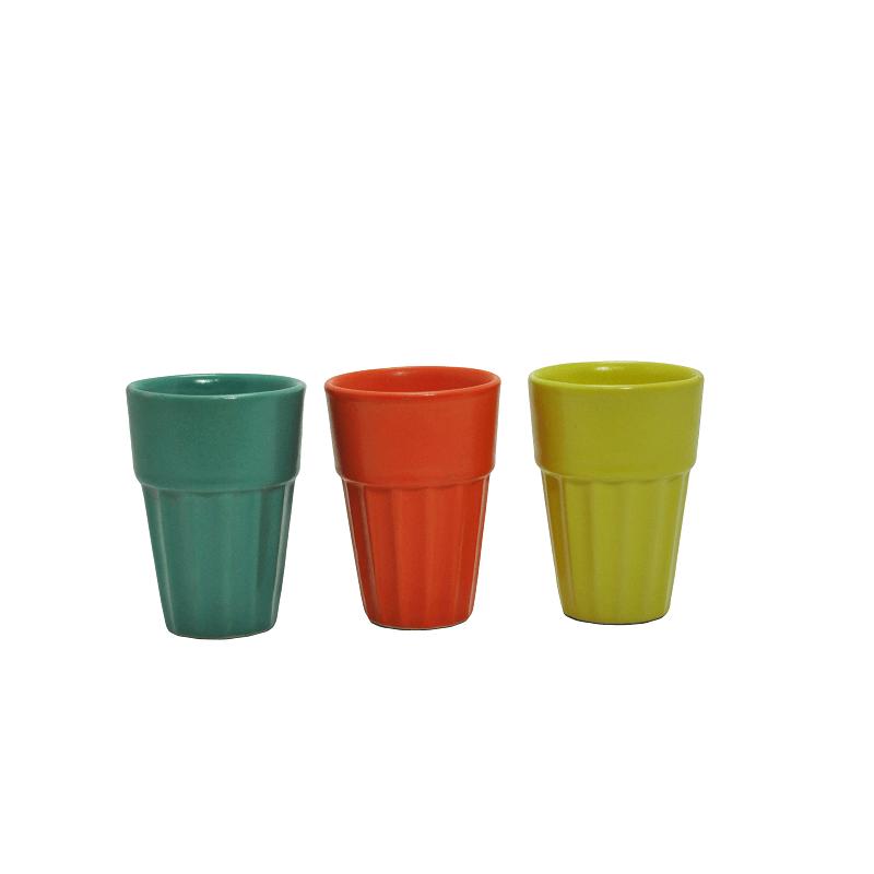 Ceramic Cutting chai Glass, Small  (set of 6)