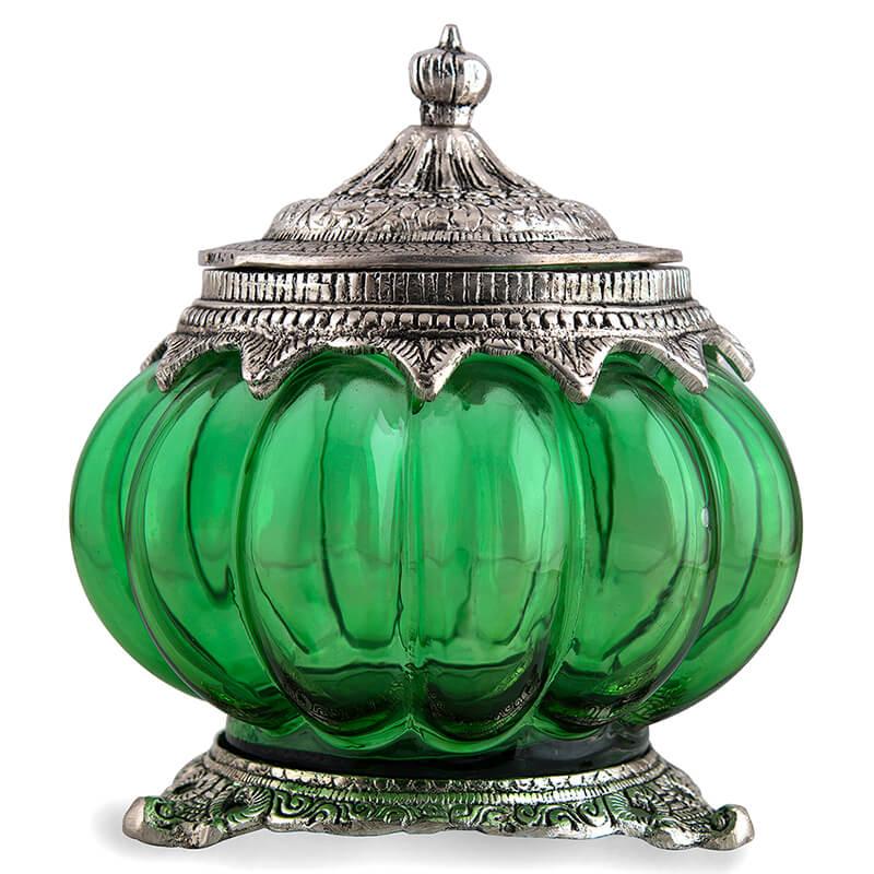Antique Serving Jar Green, Cookie Jar