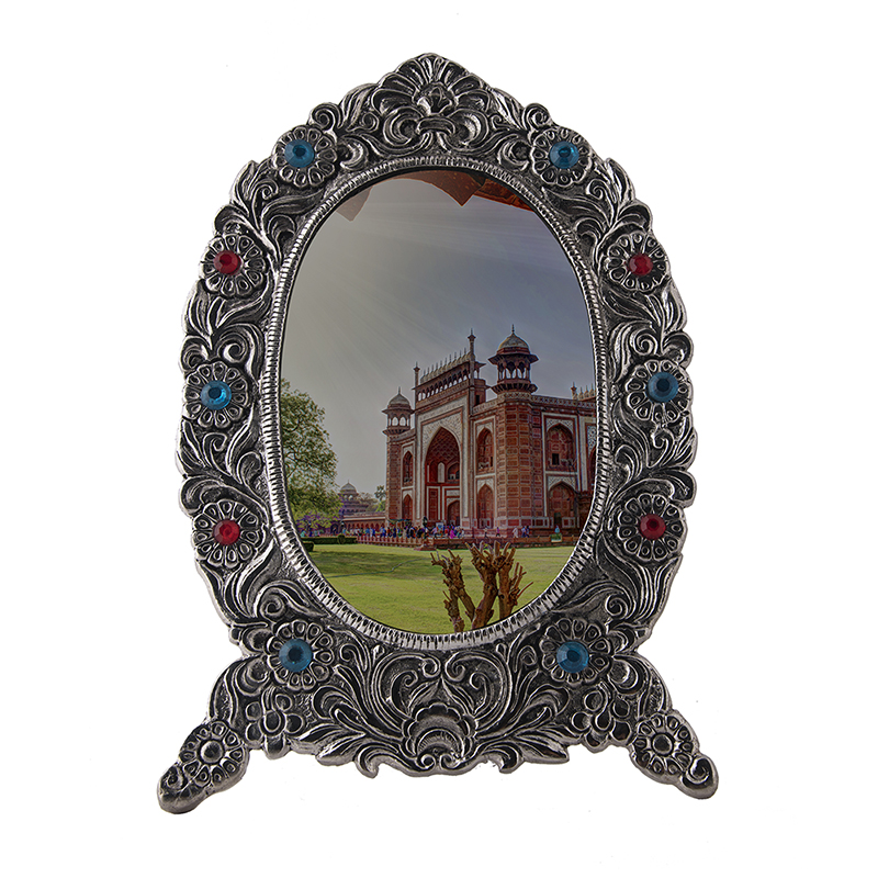 Ornate Metal Oval Photo Frame