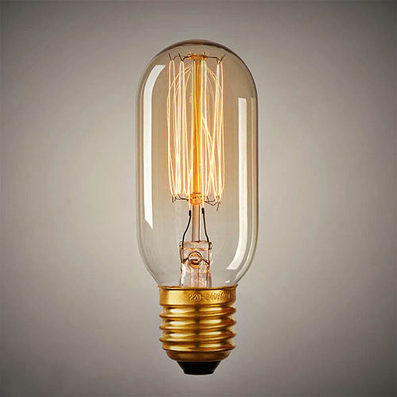 Edison Tungsten Filament Vintage Antique Light Bulb E27 T45, Squirrel Cage