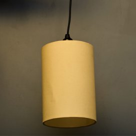 Classic Cylinder Beige Shade Pendant, Hanging Light With Fixture