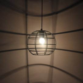 Vintage Edison Filament Hanging Classic Sphere, E27 Hanging Light,with LED Filament ST64 Bulb