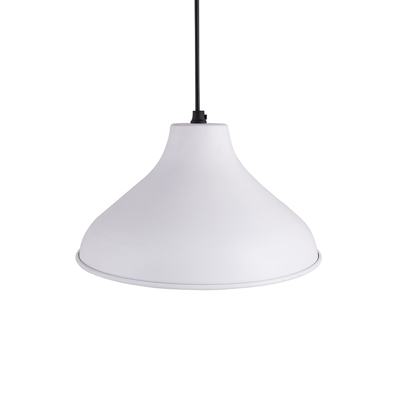 Cubist Crown Hanging White Lamp, Pendant Light