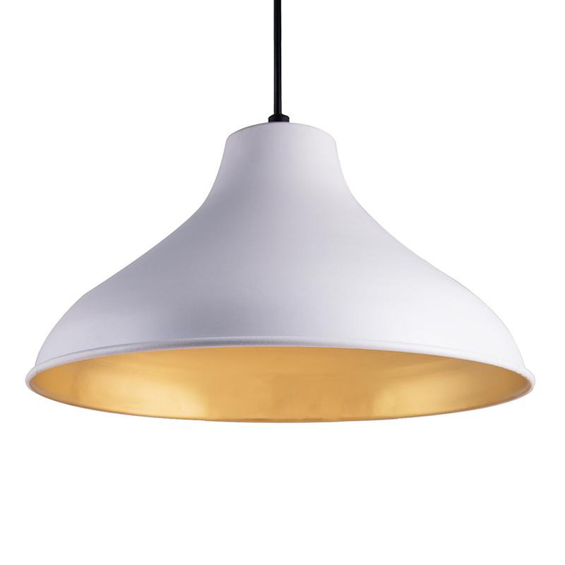 Cubist Crown Hanging White Lamp, Pendant Light