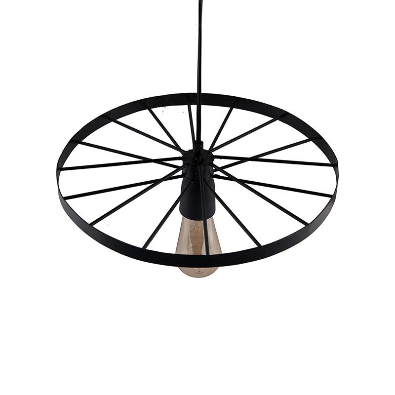 """Hanging Wheel Edison Hanging Light,13"""" Hanging Lamp"""