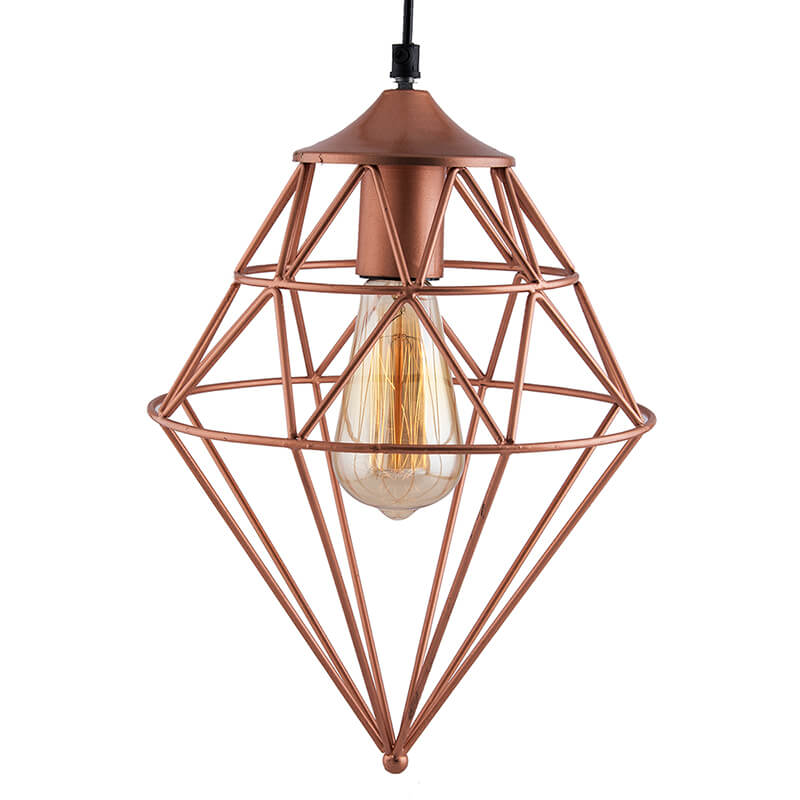 Copper Vintage Edison Filament Hanging Classic Gem , E27 Hanging Ceiling Light for LED/Filament Bulb, Decorative Urban Retro Lighting