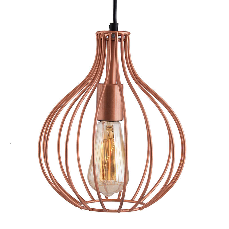 Copper Vintage Edison Filament Hanging Crown , E27 Hanging Ceiling Light for LED/Filament Bulb, Decorative Urban Retro Lighting