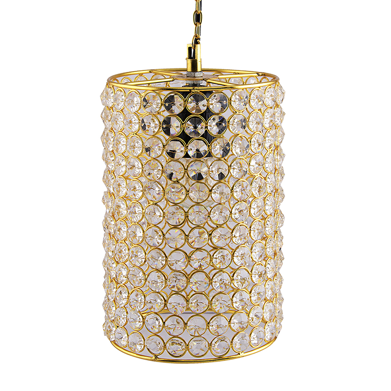 Crystal Hanging Cylinder Pendant, Hanging Ceiling Light
