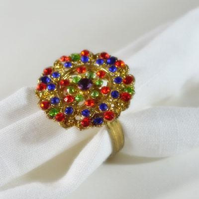 Regal Rainbow Napkin Ring (4 pcs)
