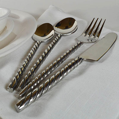 Metal-Twist Cutlery Set (16 pcs)