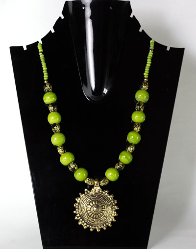 Apple Green with Sunshine Antique Pendant