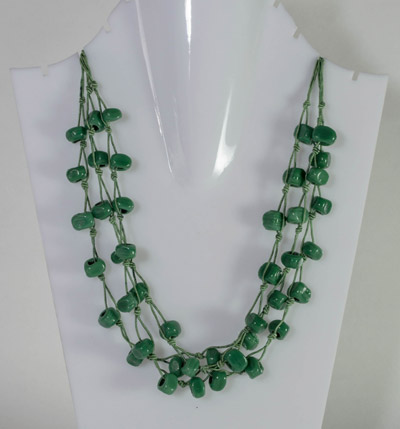 Three Layer Green Bead