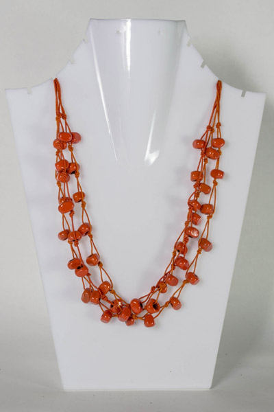 Three Layer Orange Bead