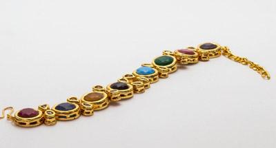 Kundan Navratna Bracelet